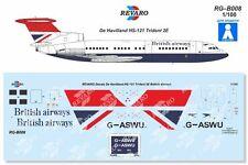 Revaro Decal HS-121 Trident 2E British Airways Veb Plasticart 1/100