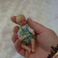 "ooak sculpt doll/hand made/artist made doll polymer clay reborn baby 4"""