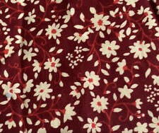 Red Ditsy Flower Fabric Half Metre 50X112cm Floral Maroon Wine Daisy Cotton