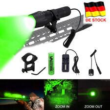 Q5 Rot/Grün LED Zoom Focus 6000LM Taschenlampe Jagd 18650 Camping Schalter Licht