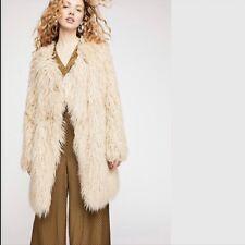 dbd02e65dcec People Florence Shaggy Faux Fur Coat XSmall XS Sand OB825933