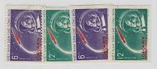 North Viet Nam Sc 160-1+IMPERFS NH issue of 1961 - SPACE - YURI GAGARIN.Sc$51