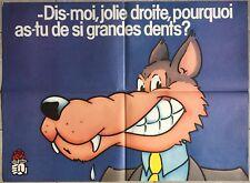 Affiche politique PARTI SOCIALISTE Dites-moi jolie droite...1986 *