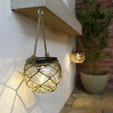 Garden Solar Powered LED Hanging Glass Jar Rope Light Lantern Table Lamps