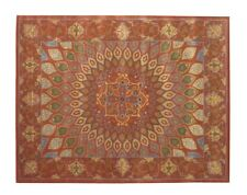 Hand Tufted Wool Gombad Rug 9'7 X 7'7