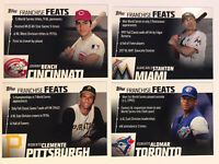 2019 Topps Series 2 (4) Card Lot Franchise Feats Stanton Clemente Bench Baseball