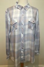 SEED Heritage New Pastel Tartan Plaid Soft Touch Button Front Collared Shirt 12