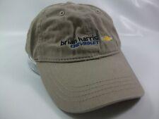 Brian Harris Chevrolet Hat Beige Strapback Baseball Cap