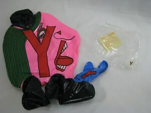 "NEW Vintage Letter People 12"" Inflatable Huggable - Mr. Y NDE"