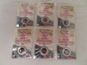2006 Boston Red Sox Medallion Collection Coins LOWELL YOUK VARITEK PAP SCH BECK