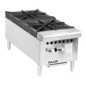 "Vulcan  VCRH 12-1 Natural Gas 12"" 2 Burner Countertop Range - 50,000 BTU"