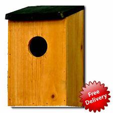 New Stylish Bird House Traditional Wooden Garden Bird Nesting Box Kingfisher