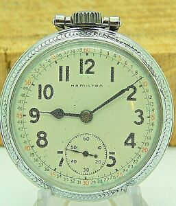 Vintage Antique 1950 Hamilton 992B Railroad Grade 16S 21 jewel pocket watch
