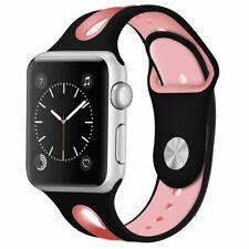 Para Apple Watch Serie 5 4 3 2 1 iWatch 38 40 42 44mm Banda De Silicona Correa De Deportes