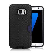 CoverKingz Samsung Galaxy S7 Hülle Schwarz case mit Kartenfach design cover