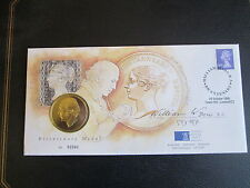 ROYAL MINT- William Wyon Bicentenary - 1995 - Medal + £1 Definitive.