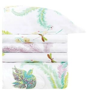 Yves Delorme Evasion Queen Duvet Cover Made in France Egyptian Cotton Sateen NWT