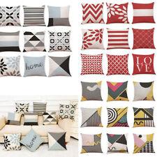 Throw Cotton Waist Geometric Pillow Cover Sofa Cushion Decor Home Case Latest