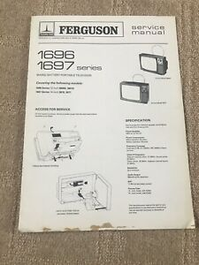 Thorn 1696 -1697 Series Mains Battery Portable Tv Genuine Service Manual