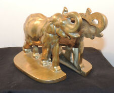 Brass Elephant Book ends  over 4 inches high (12906)