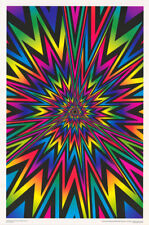POSTER:PSYCHEDELIC - EXPLOSION #1 -  FLOCKED  VERSION- FREE SHIP   #3517F  LC1 B