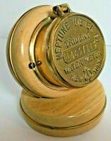 Vintage Trident Neptune New York Water Meter With Clock