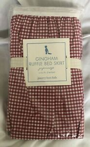 Pottery Barn Kids Red Gingham Ruffle Crib Bed Skirt