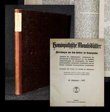 1915 Homöopathie Wolf Reichert Homöopathische Monatsblätter