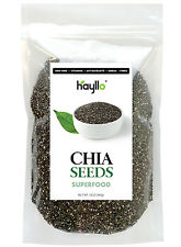 12 Ounces Natural Premium Black Whole Chia Seeds In Resealable Bag by Hayllo
