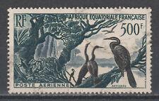 Timbre d'AFRIQUE EQUATORIALE FRANCAISE oblitéré N° Y. & T. poste Aérienne 53