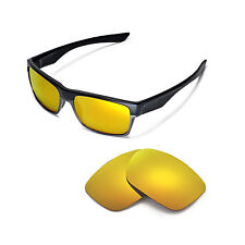 Walleva Polarized 24K Gold Replacement Lenses for Oakley TwoFace Sunglasses