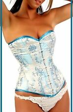 "Leatherotics Steel Boned Over Bust Heavy Satin Corset 22"" (Size 8)"