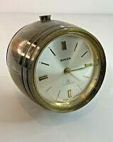Vintage Alarm Clock Swiza 8 Day Barrel  Swiss