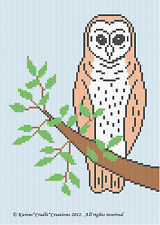 Crochet Patterns - BARN OWL Color Graph Pattern / Chart