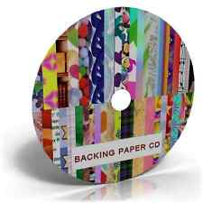 3700 BACKING PAPERS SHEETS CARD MAKING ,TOPPERS, CRAFT MENU DRIVEN CD