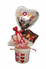 By Broward Balloons Love Foil Balloon and Candy in Container Basket