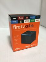 Fire TV Cube 4K Streaming Media Player with Alexa and Alexa Voice Remote - Black