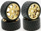 Powerhobby 1/8 Gripper Front Rear 42/54/100 Belted Tires GOLD 4 Arrma LIMITLESS