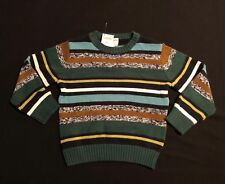 NWT Gymboree Boys Green Striped w/ Blue Yellow Sweater Size XS (4)