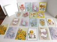 19 Vtg Sunshine Greeting Cards Flowers Birds Little Girls Baby Birthday Get Well