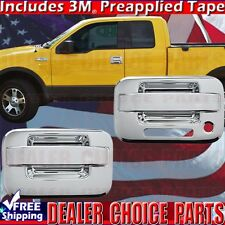 2004-2014 F150 Chrome Door Handle COVERS Overlays Trims W/ Keypad WOut PSK 2DR