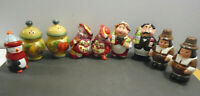 VINTAGE ASSORTED SALT AND PEPPER SHAKERS LOT OF 9 KITCHEN DIVA + ITALIAN COUPLE