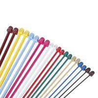 J3Y6 Set of 20Pcs 2.0-6.5mm Plastic Knitting Needles 10 Marked Sizes D4L8