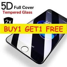 5D Curved Full Cover Tempered Glass Screen Protector For iPhone 8 BLACK