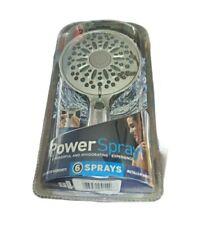 Waterpik VHX-663E PowerSpray+ 6-Mode Handheld Shower Head Chrome