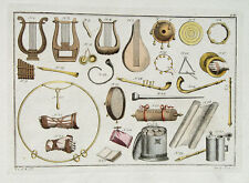 Musik Instrument Lyra Leier Harfe Flüte Trommel Tamburin Gitarre Griechen Gold