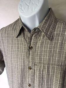 Royal Robbins Men's Black/White Plaid Short Sleeve Button Outdoors Shirt Small