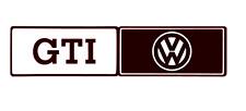 VW GTI STICKER Mudflaps Decals Golf Polo Scirocco Mk1 mk2 mk3 mk4 mk5  220mm x 4
