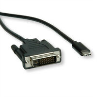 USB Typ C - DVI Adapterkabel, Stecker/Stecker, 1 m