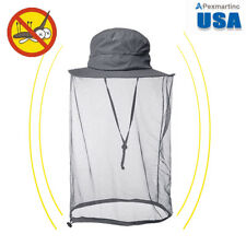 Gray Boonie Hat with Mesh Mosquito Netting - Insect & Bugs Outdoor Head Net Hats